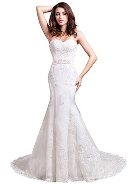 Bridesire Robe De Mariage Dentelle Confortable Et Belle