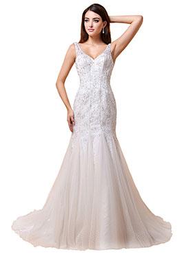 Bridesire Robes De Mariage De Style Sirene Robes