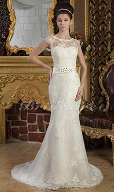 Robe de mariee dentelle blanche pas cher