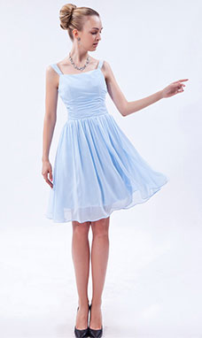 Princesse Épaule asymétrique Court/Mini Tulle  Taffetas Robe de Cocktail